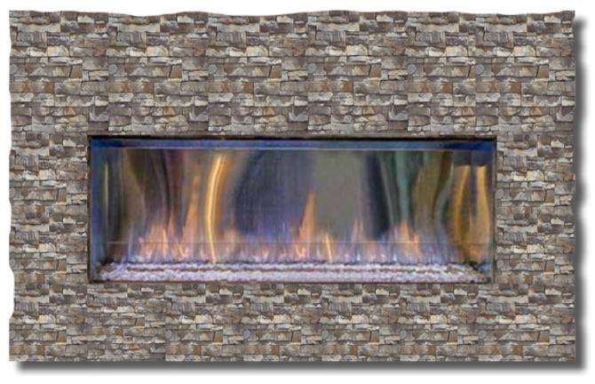 Exterus Outdoor Linear Fireplace